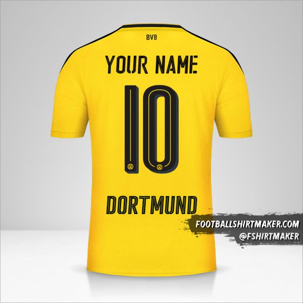Borussia Dortmund 2016/17 jersey number 10 your name