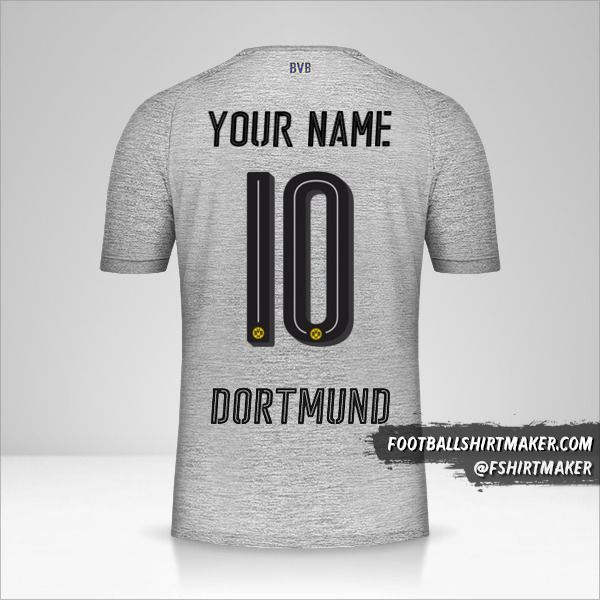 Borussia Dortmund 2017/18 III jersey number 10 your name