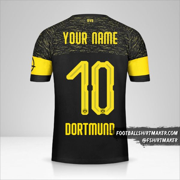 Borussia Dortmund 2018/19 II jersey number 10 your name