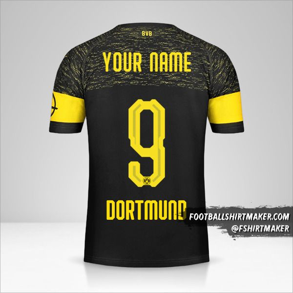 Borussia Dortmund 2018/19 II jersey number 9 your name