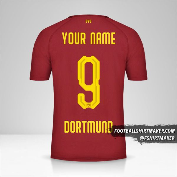Borussia Dortmund 2018/19 III jersey number 9 your name