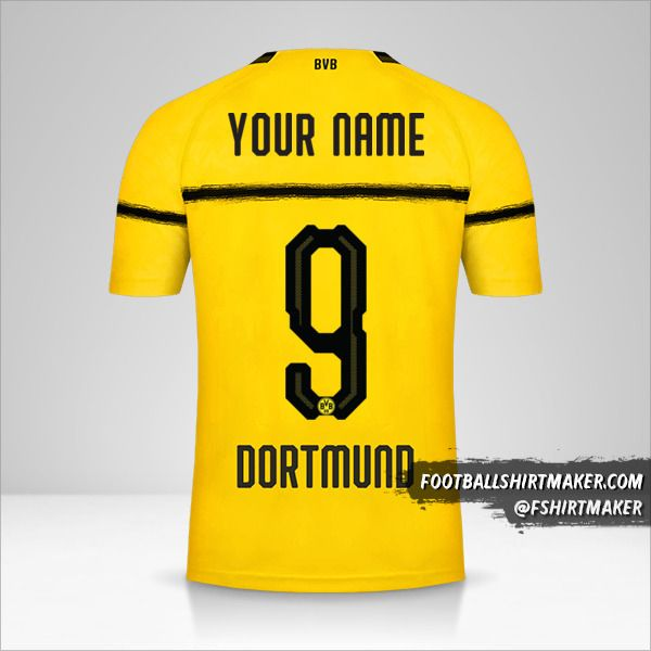 Borussia Dortmund 2018/19 Cup jersey number 9 your name