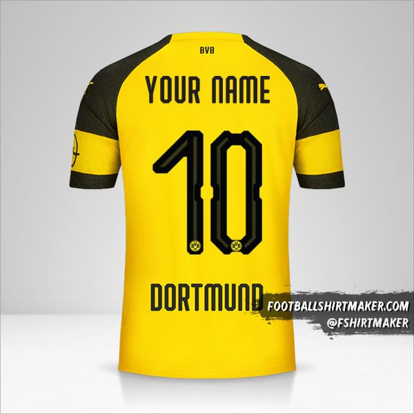 Borussia Dortmund 2018/19 jersey number 10 your name