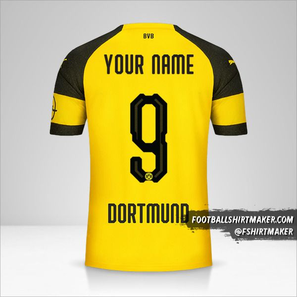 Borussia Dortmund 2018/19 jersey number 9 your name