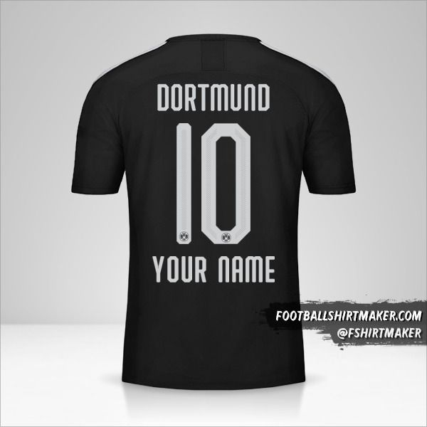 Borussia Dortmund 2019/20 II jersey number 10 your name