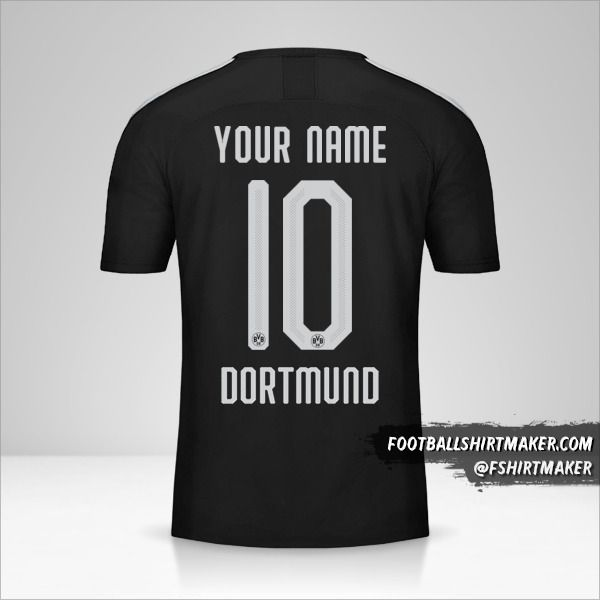 Borussia Dortmund jersey 2019/20 Cup II number 10 your name