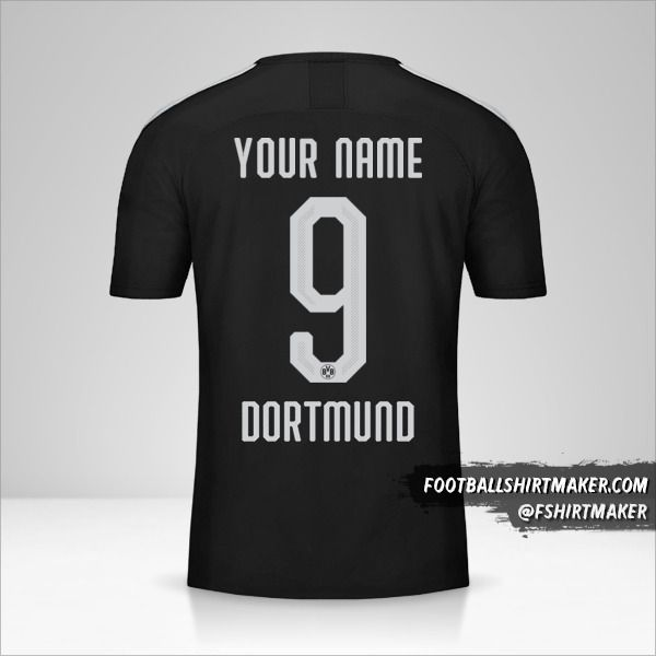 Borussia Dortmund jersey 2019/20 Cup II number 9 your name