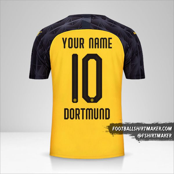 Borussia Dortmund 2019/20 Cup jersey number 10 your name
