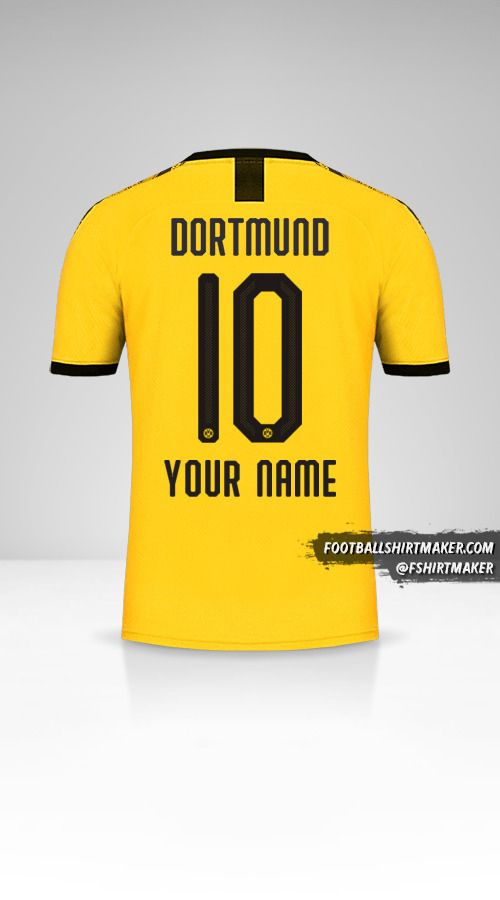 Borussia Dortmund 2019/20 jersey number 10 your name
