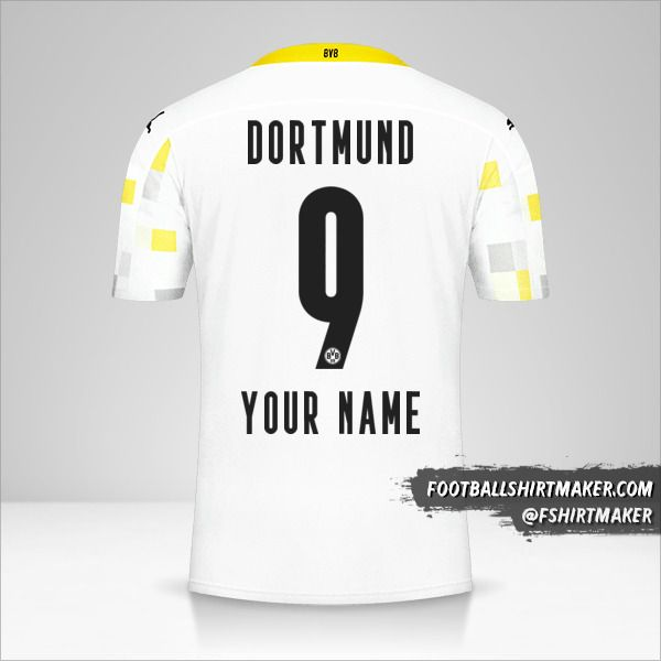 Borussia Dortmund 2020/21 III jersey number 9 your name