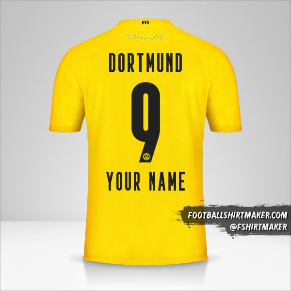 Create Borussia Dortmund 2020 21 Custom Jersey With Your Name