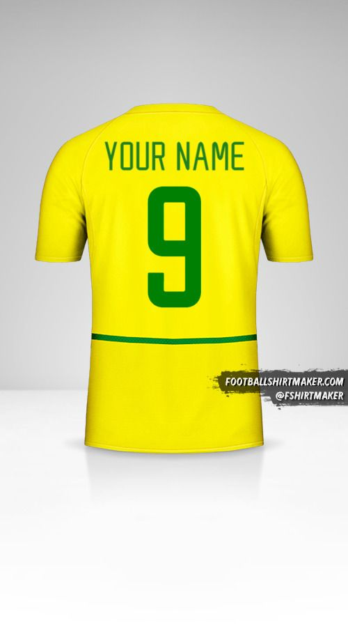 Brazil 2002/04 jersey number 9 your name