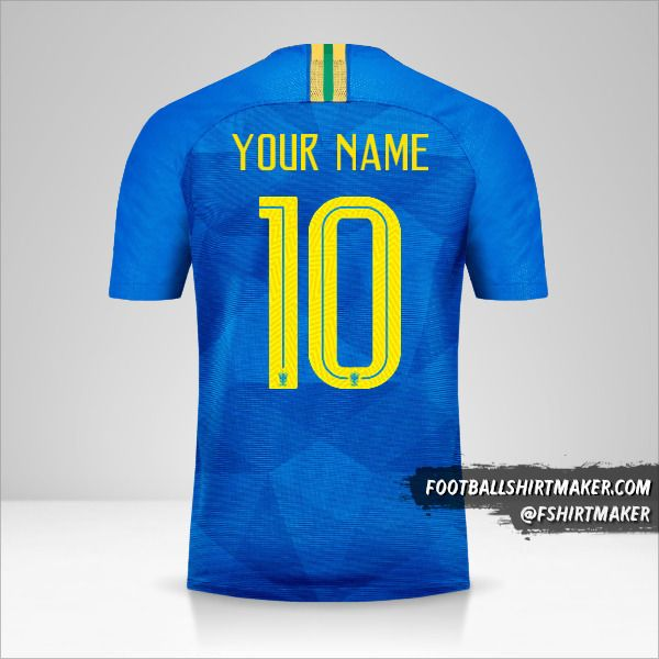 Brazil 2018/19 II jersey number 10 your name