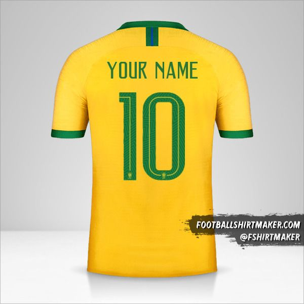 Brazil 2019 jersey number 10 your name