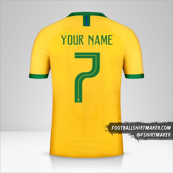 Brazil jersey 2019 number 7 your name