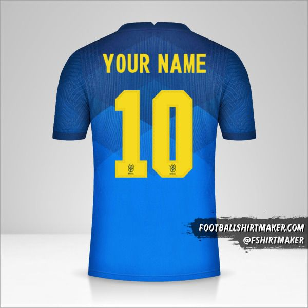 Brazil 2020/21 II jersey number 10 your name