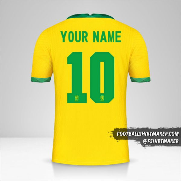 Brazil 2020/21 jersey number 10 your name