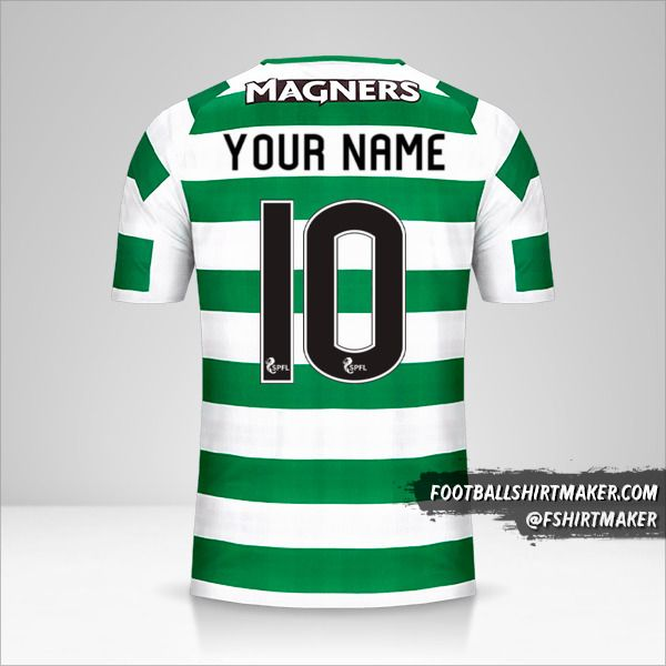 Celtic FC 2018/19 jersey number 10 your name