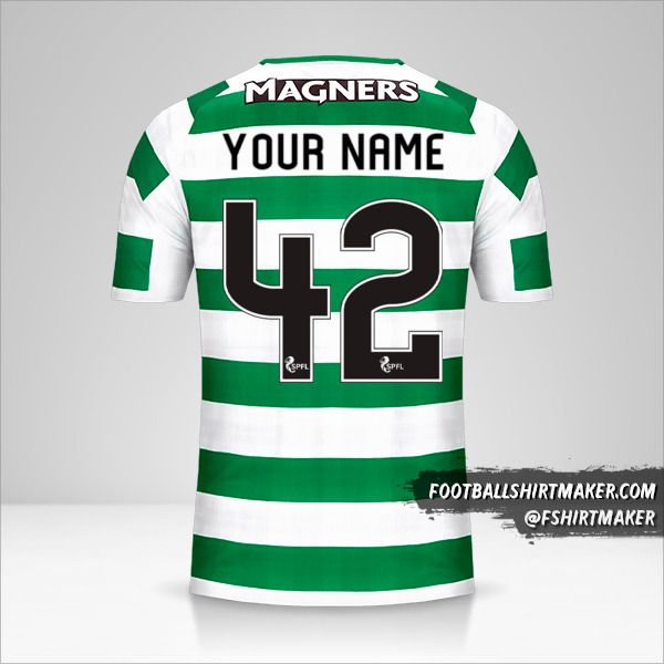 Celtic FC 2018/19 jersey number 42 your name