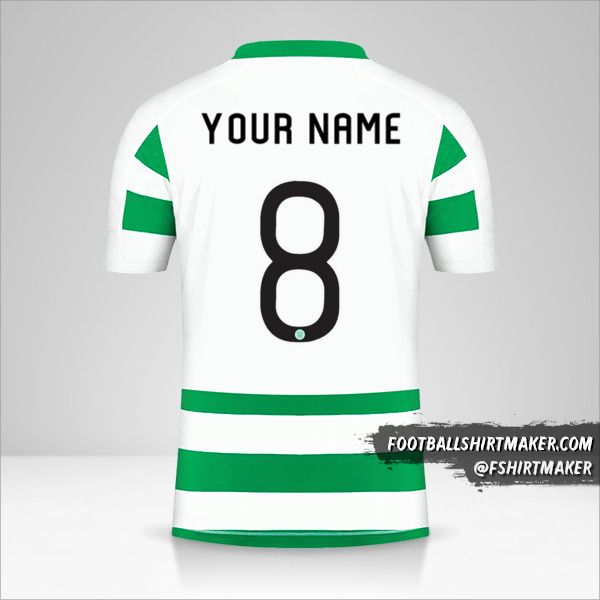 Celtic FC 2019/20 Cup jersey number 8 your name