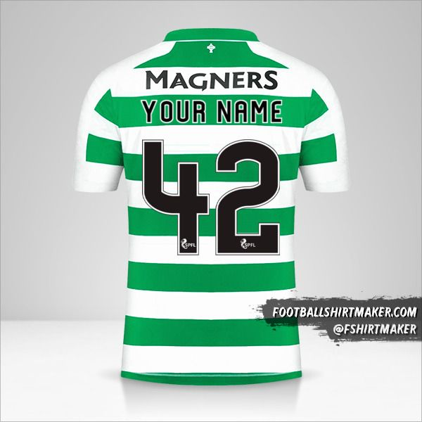 Celtic FC 2019/20 jersey number 42 your name