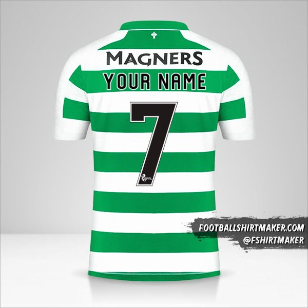 Celtic FC jersey 2019/20 number 7 your name