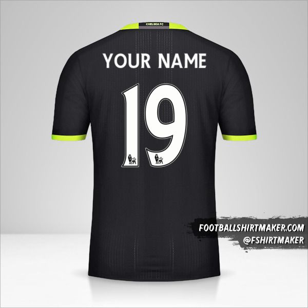Chelsea 2016/17 II jersey number 19 your name