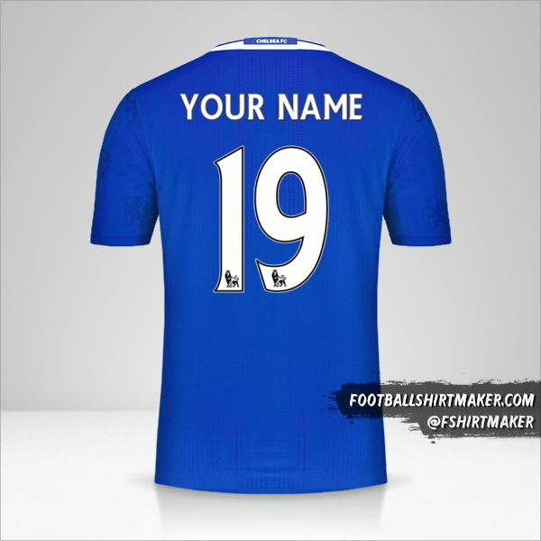 Chelsea 2016/17 jersey number 19 your name