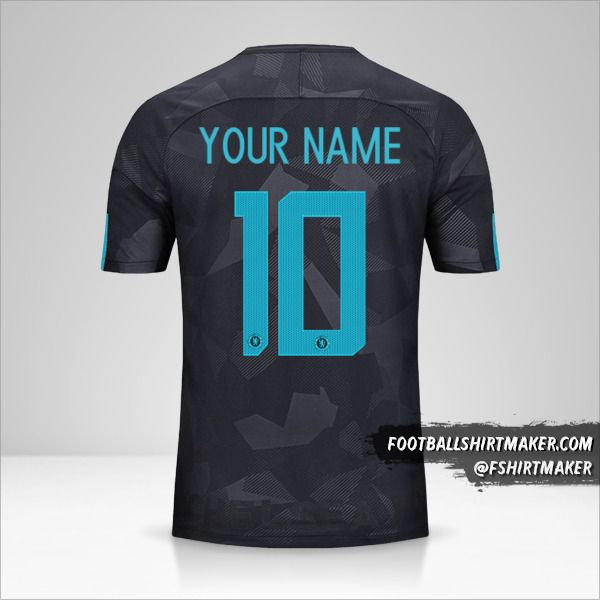 Chelsea 2017/18 Cup III jersey number 10 your name
