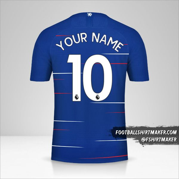Chelsea 2018/19 jersey number 10 your name