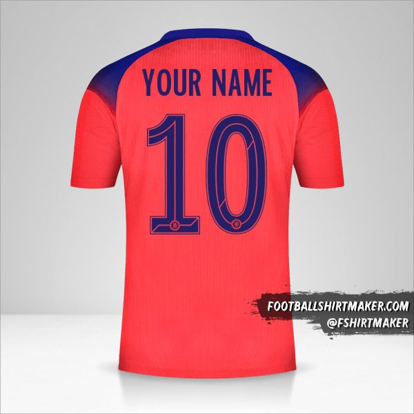 Chelsea 2020/21 Cup III jersey number 10 your name