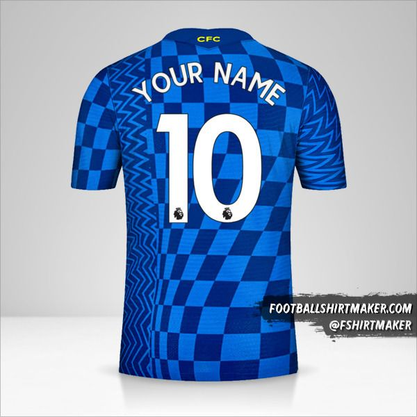 Chelsea 2021/2022 jersey number 10 your name