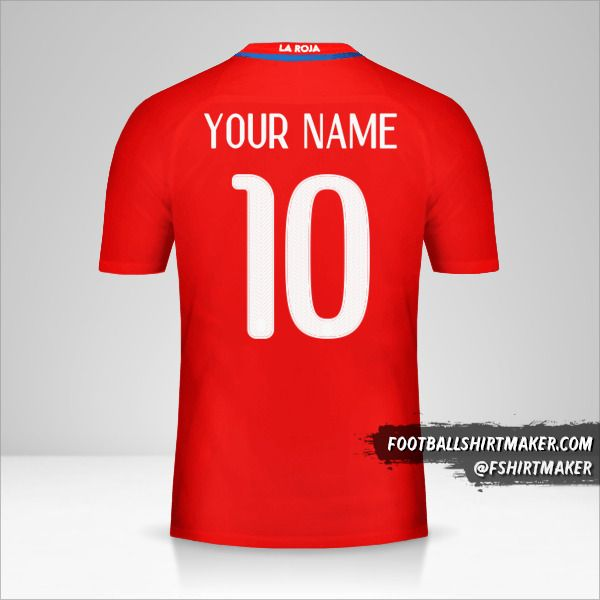 Chile 2016 jersey number 10 your name