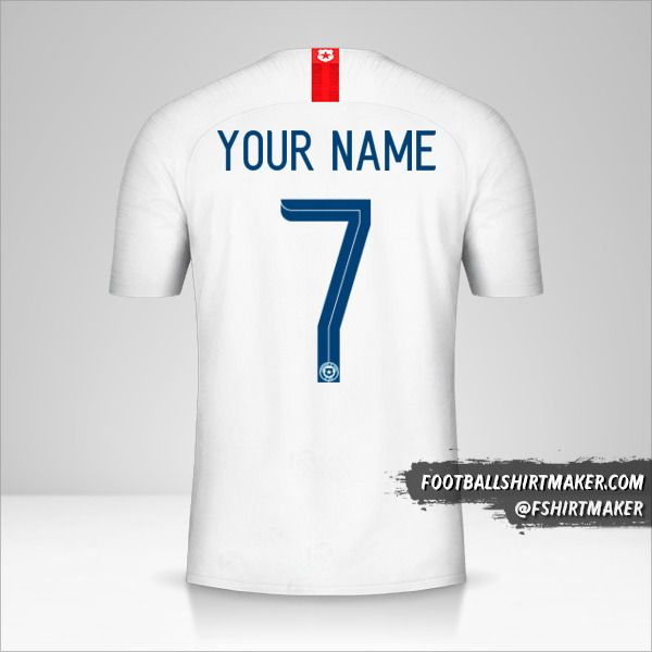 Chile 2018/19 II jersey number 7 your name