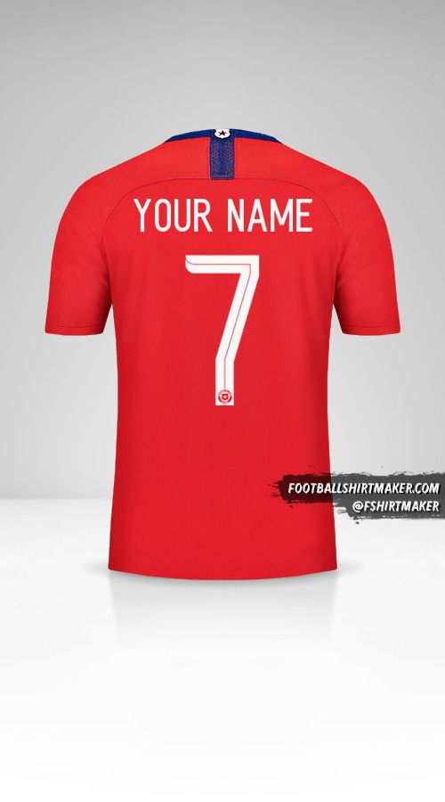 Chile 2018/19 jersey number 7 your name