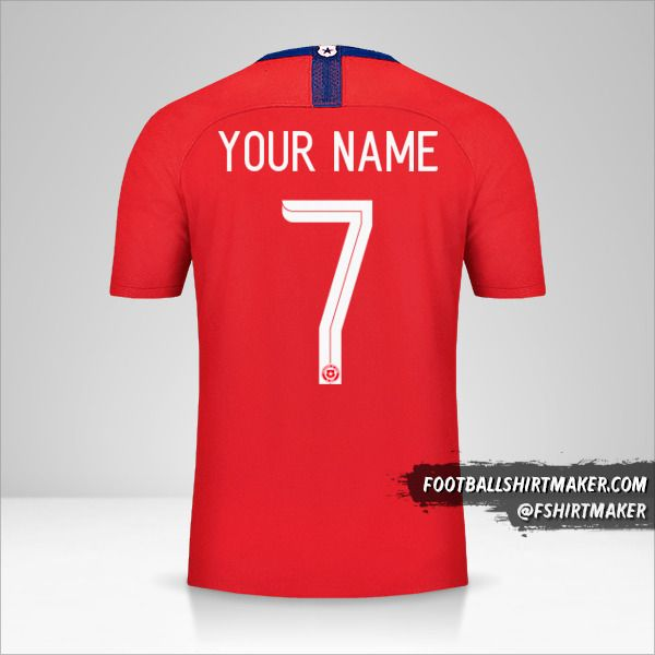 Chile jersey 2018/19 number 7 your name