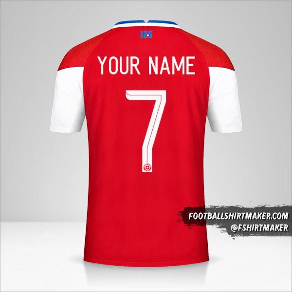 Chile 2020/2021 jersey number 7 your name