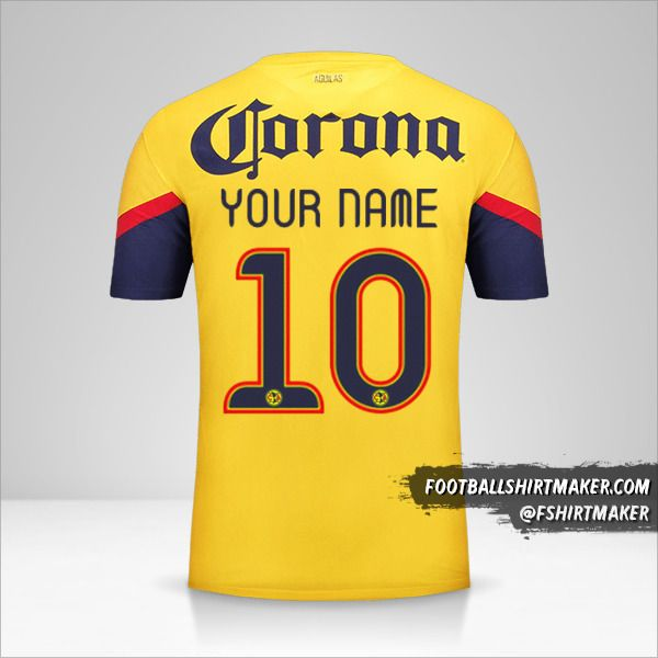 Club America jersey 2012/13 number 10 your name