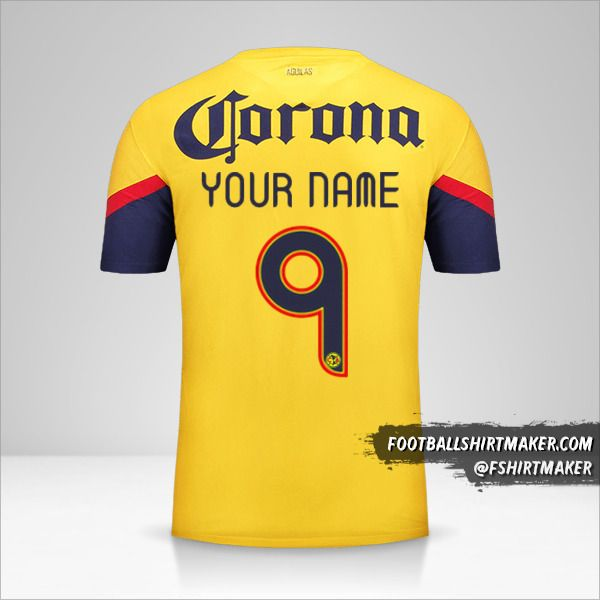Club America jersey 2012/13 number 9 your name