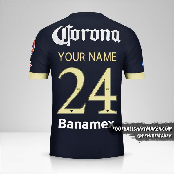 Club America 2014/15 II jersey number 24 your name