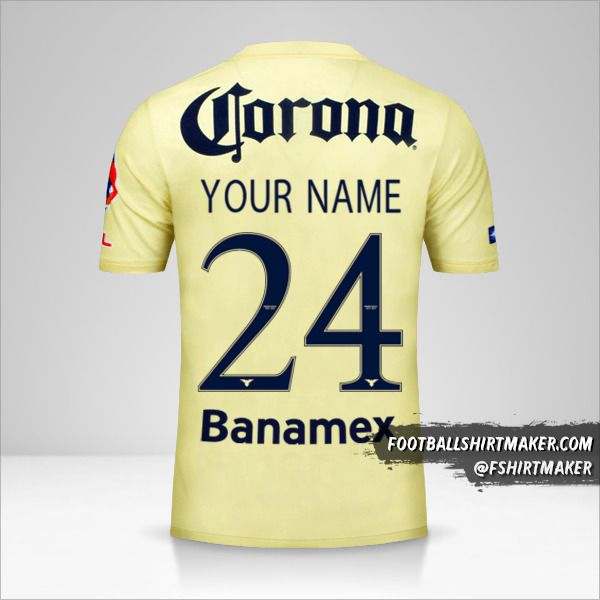 Club America 2014/15 jersey number 24 your name