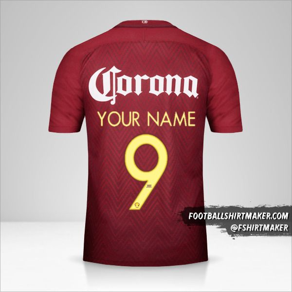 Club America 2016/17 II jersey number 9 your name