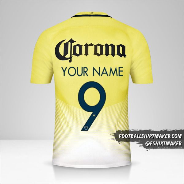 Club America 2016/17 jersey number 9 your name
