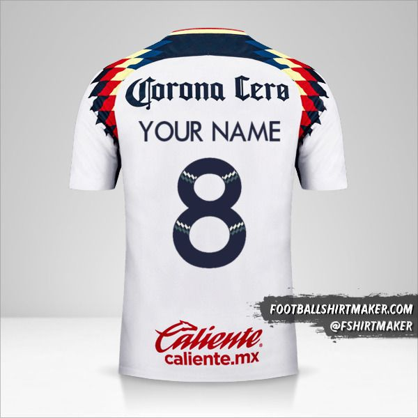 Club America 2017/18 II jersey number 8 your name