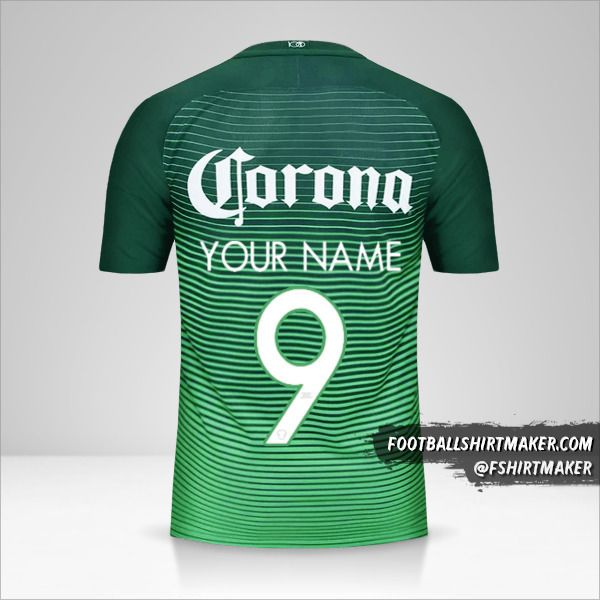 Club America 2017 III jersey number 9 your name