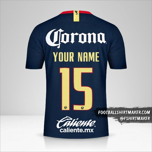 Club America 2018/19 II jersey number 15 your name