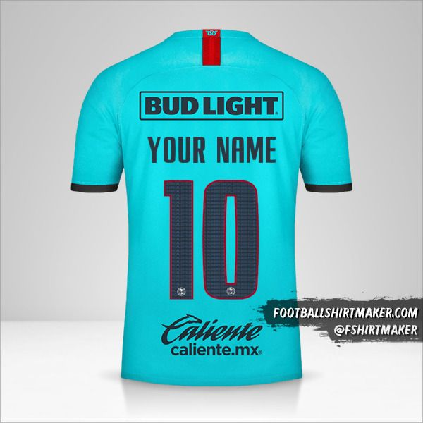 Club America 2019/20 III jersey number 10 your name