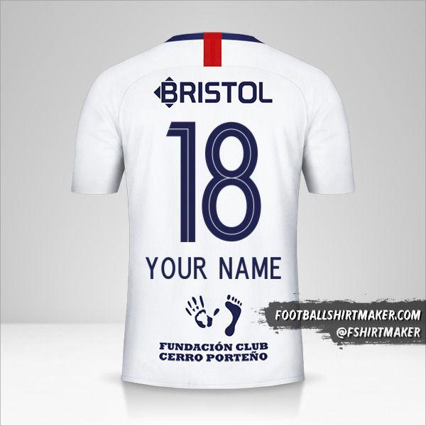 Club Cerro Porteño 2019 II jersey number 18 your name