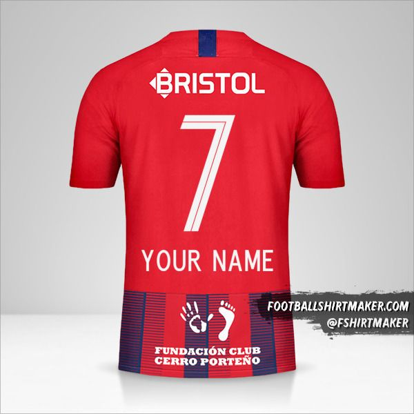 Club Cerro Porteño jersey 2019 number 7 your name