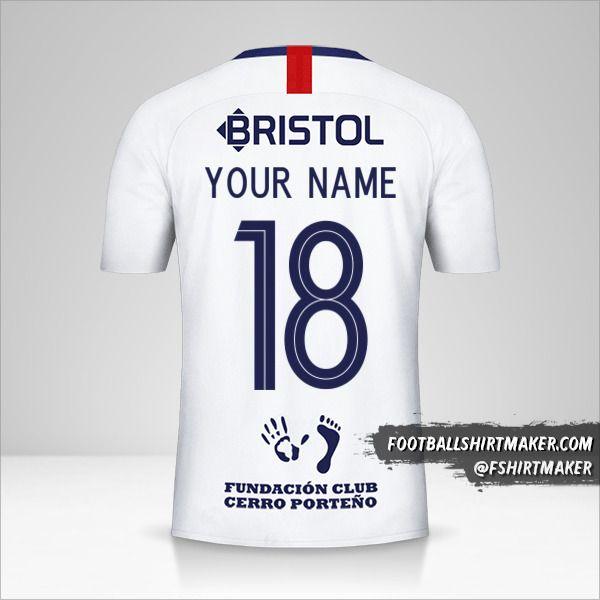 Club Cerro Porteño Libertadores 2019 II jersey number 18 your name